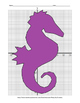 Fun Fact Coordinate Graphing Picture: Seahorse