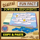 Fun Fact: Powers & Exponents (Google Interactive & Hard Copy)