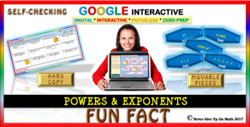 Fun Fact: Powers & Exponents (Google Interactive & Hard Copy)