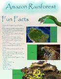 Fun Fact Sheet Amazon