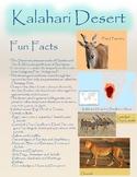 Fun Fact Sheet Kalahari Desert