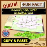 Fun Fact: Solve 2-Step Inequalities (Google Interactive & Hard Copy)
