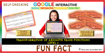 Fun Fact: Transformation of Absolute Value L2 (Google Interactive & Hard Copy)