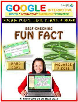 Fun Fact: Vocabulary: Point, Line, Plane, & More(Google Interactive & Hard Copy)