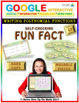 Fun Fact: Writing Polynomial Functions LEVEL 2 (Google Interactive & Hard Copy)