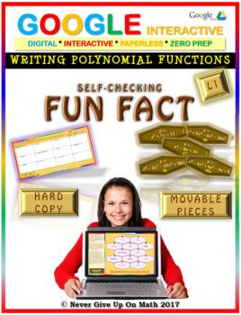 Fun Fact: Writing Polynomial Functions LEVEL 1 (Google Interactive & Hard Copy)