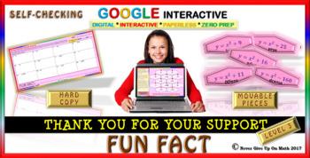 Fun Fact: Writing Polynomial Functions LEVEL 3 (Google Interactive & Hard Copy)