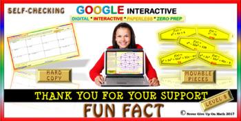Fun Fact: Writing Polynomial Functions LEVEL 8 (Google Interactive & Hard Copy)