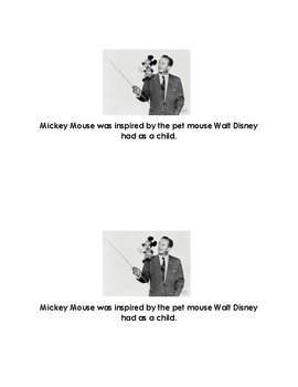 Fun Facts About Mickey Mouse Emergent Reader