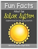 Fun Facts About Our Solar System {Student Books & Assessments}