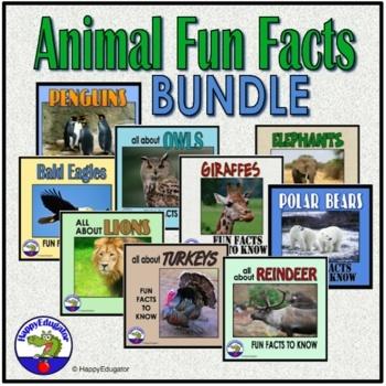 Fun Facts: Owls, Penguins, Polar Bears, Elephants, Lions, Giraffe, Eagles BUNDLE