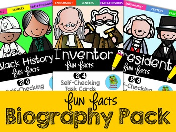 Fun Facts: Biographies Edition (Set 1)