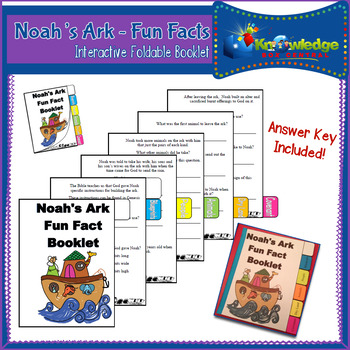 Fun Facts: Noah's Ark Interactive Foldable Booklet