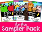 Fun Facts Sampler Pack {Self-Checking Task Cards}