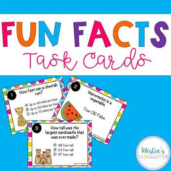 Fun Facts Task Cards