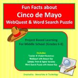 Cinco de Mayo - Internet Scavenger Hunt / WebQuest   Distance Learning