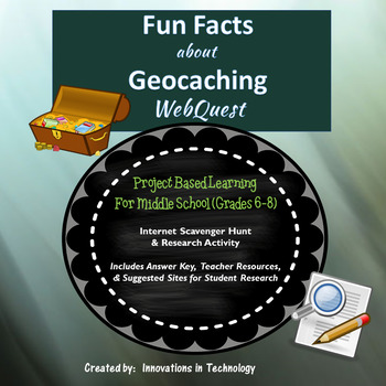 Fun Facts about Geocaching -  WebQuest / Internet Scavenger Hunt