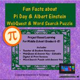 Fun Facts about Pi Day & Albert Einstein WebQuest | Distance Learning