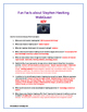 Fun Facts about Stephen Hawking - WebQuest / Internet Scavenger Hunt