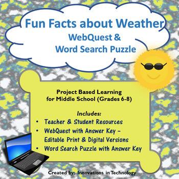 Fun Facts about Weather WebQuest - Internet Scavenger Hunt