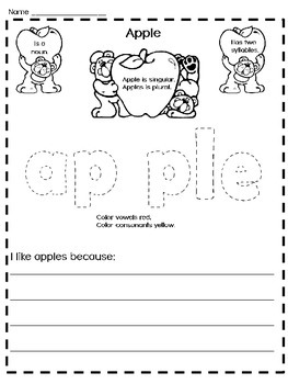 Second Grade APPLE FACTS