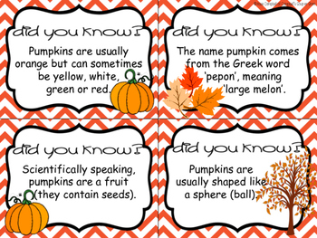 Fun Facts {pumpkins}