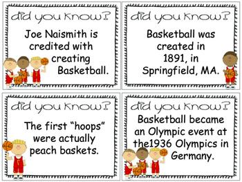 Fun Facts {basketball}