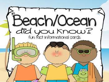 Fun Facts {beach and ocean}