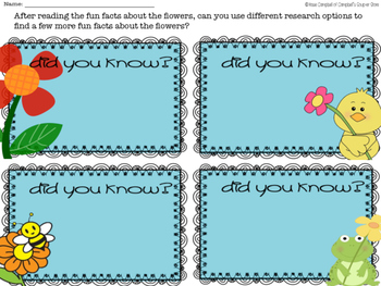 Fun Facts {flowers and plants}