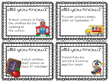 Fun Facts {school}