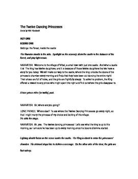 Fun Fairy Tale Play Script Adaptation of The Twelve Dancing Princesses