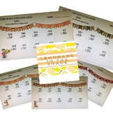 Fun Fall Addition and Subtraction within 1000 with and without regrouping