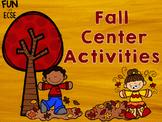 Fall Center Activities