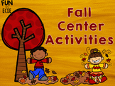 Fall Center Activities