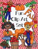 Fun Fall Clip Art Set