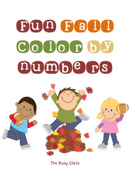 Fun Fall Color by Number