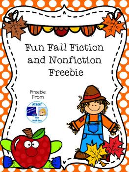 Fun Fall Fiction and Nonfiction Freebie