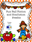 Fun Fall Fiction and Nonfiction Freebie