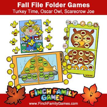 Fun Fall File Folder Games