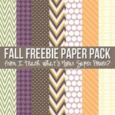 Fun Fall Freebie Digital Paper Pack