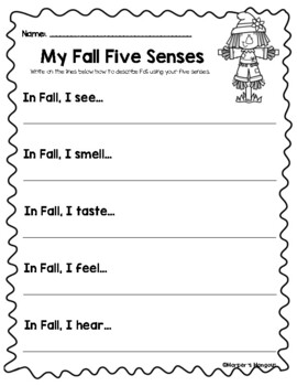 Fun Fall Learning Packet