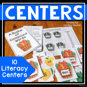 Fun Fall Literacy Stations (10 literacy stations)