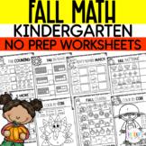Fall Math Packet - NO PREP (Kindergarten)