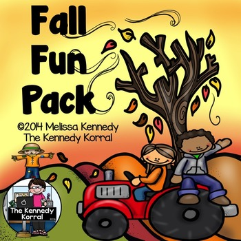 Fall Fun Pack ELA and Math {IN, ABC Order, Graph, Glyph & MORE!}