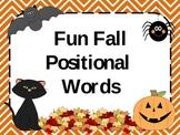 Fun Fall Positional Words