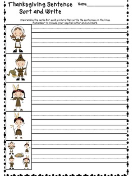 Fun Fall Thanksgiving Packet of Literacy Activities