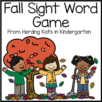 Fun Fall Themed Sight Word Game (Dolch Word Lists)