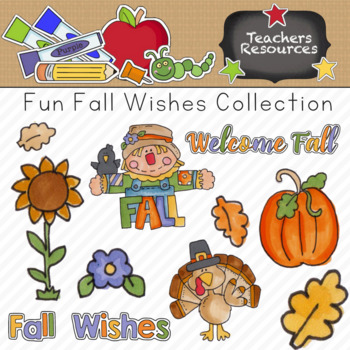 Fun Fall Wishes Clipart Collection || Commercial Use Allowed