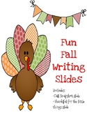Fun Fall Writing Slides