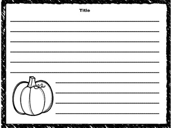 Fun Fall Writing Templates